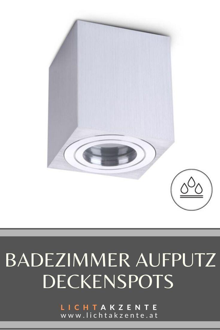 Badezimmer Deckenspot Eckig Aquarius Ip44 Silber Geburstet In 2020