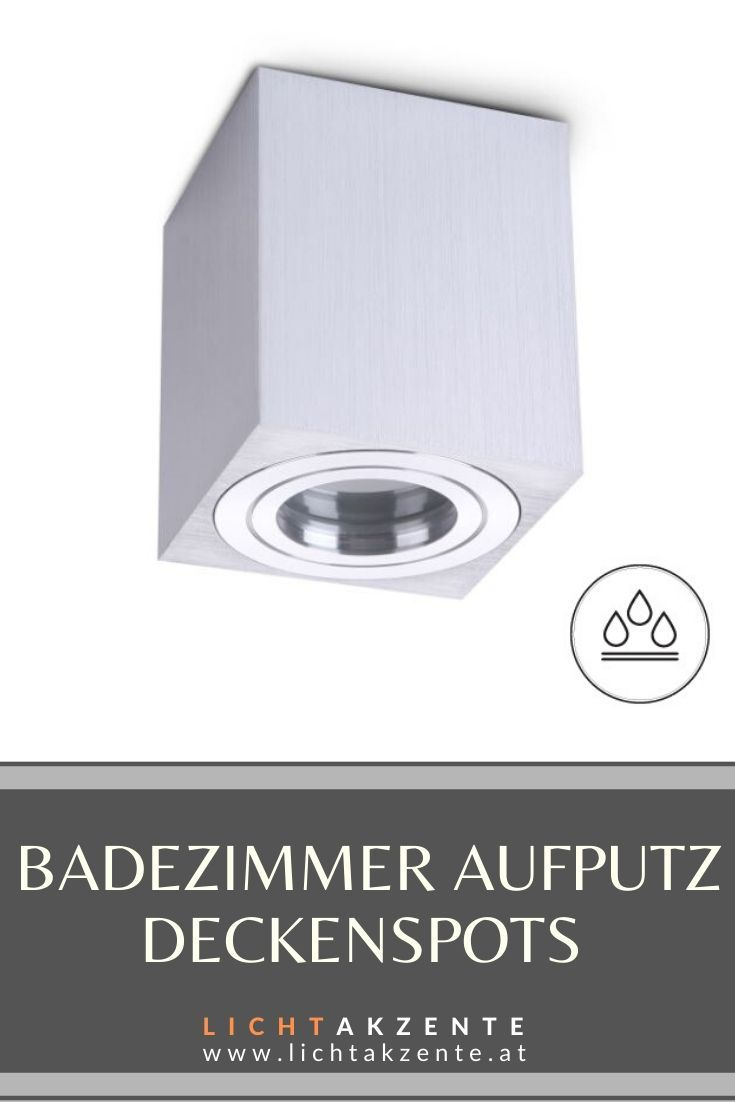 Badezimmer Deckenspot Eckig Aquarius Ip44 Silber In 2020 Deckenspots Beleuchtung Decke