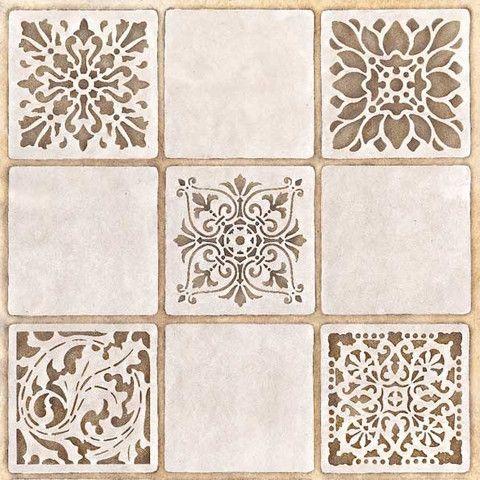 Decorate and paint a faux tile design or random wall art motifs with our Renaissance Tile Stencils Set B. These traditional European tile patterns coordinate with our Renaissance Tile Stencils Stencil