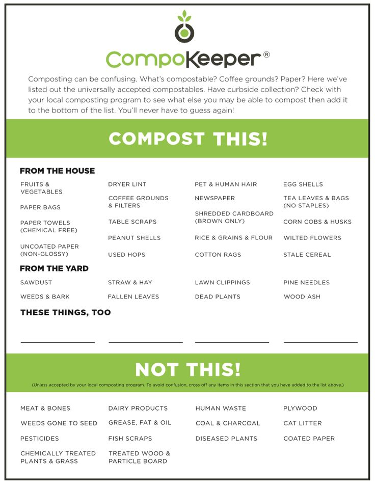 print this guide to help understand what can be composted and what canu0027t be