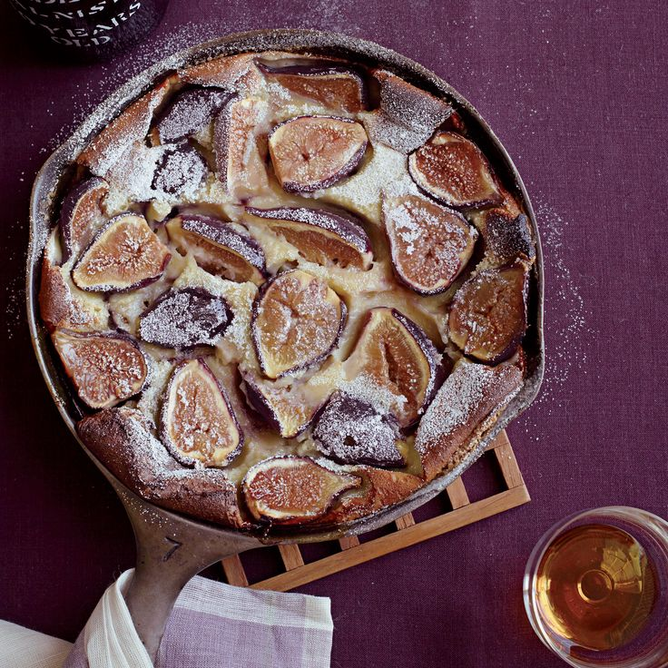 Chef Matthew Accarrino of SPQR in San Francisco packs this rustic pancake-like dessert with fresh figs and tops it with port-infused whipped cream.