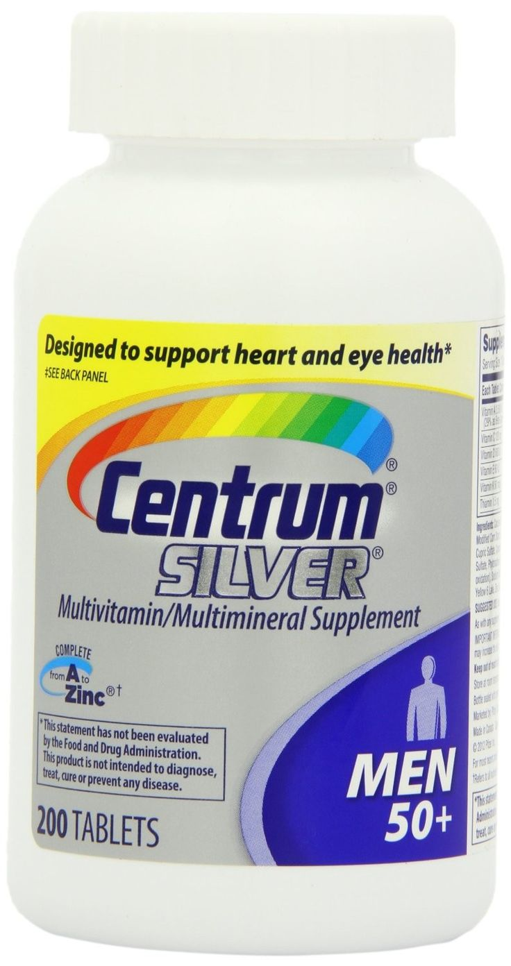 Centrum  Silver Ultra Mens Multivitamin Supplement Tablets - 200 ea.  Multivitamin/Multimineral Supplement. Designed to support heart (not a replacement for cholesterol-lowering drugs) and eye health (Contains vitamins B6, B12 and folic acid for heart health and vitamins A, C, E and lutein [This product is not intended to provide daily intake of lutein. Take with a diet rich in fruits and vegetables.] to help support healthy eyesight.).