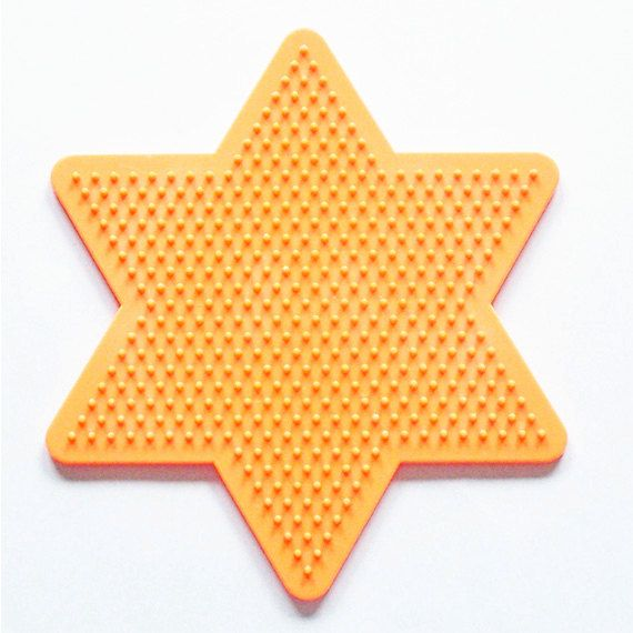 Large Star Perler Bead Pegboard Ironing by CreativeXpression1