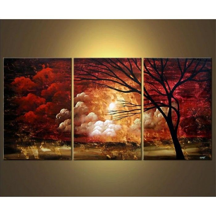 On sale closing the distance set of 3 pieces for Cheap canvas paintings for sale