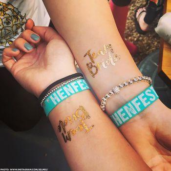 henfest hen party favours wristbands hen do accessories