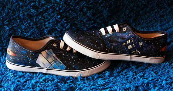 Dr. Who Customized - Doctor Who canvas shoes dark galaxy