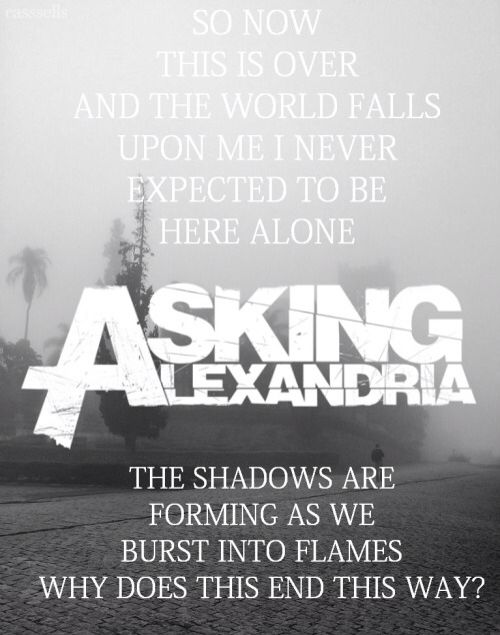 If You Can't Ride Two Horses At Once...The You Should Get Out Of The Circus // Asking Alexandria