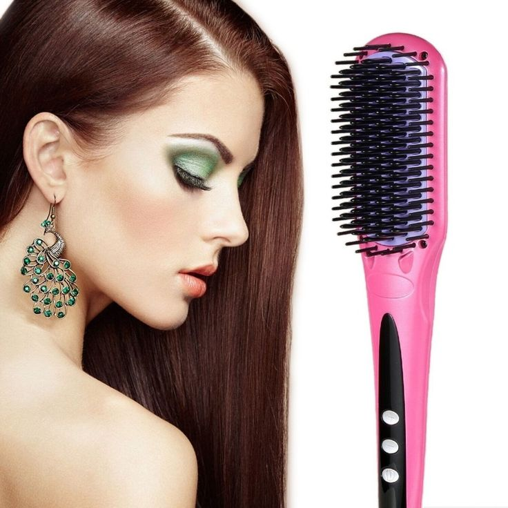 Professional hair straightening brush ceramic hair straightener comb/brush