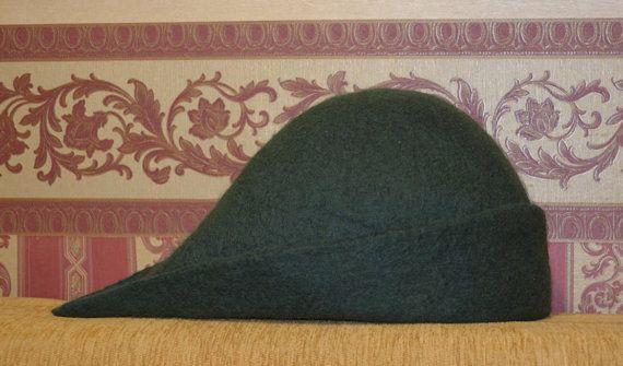 Medieval Felt hat handmade bycocket Robin Hood hat by Galachko