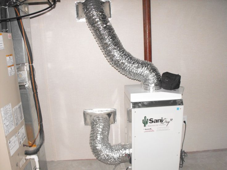 basement and ducted into the finished area basement dehumidifier