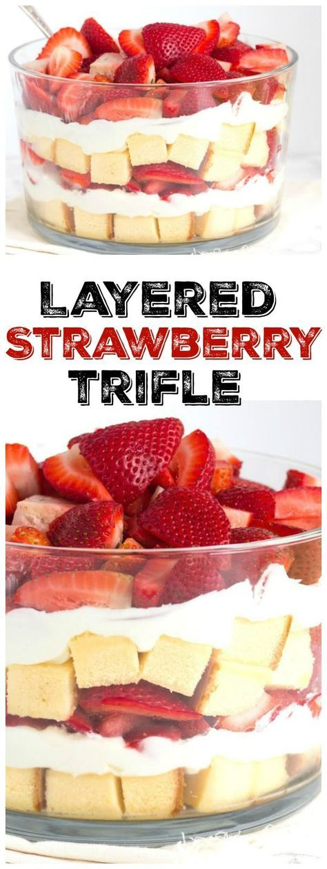 1000 ideas about strawberry trifle on pinterest angel for Strawberry truffles recipe uk