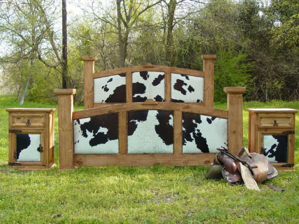 Image Detail For -Cowhide Rustic Post Star Bed This Is My