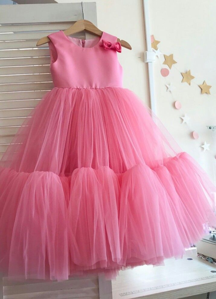 3d80c0fa1 Pink tulle dress   Little Miss Perfection   Baby girl dresses, Frocks for  girls, Kids gown