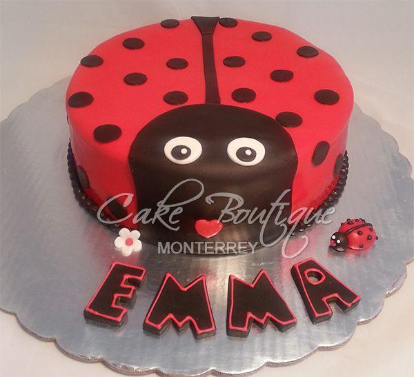 Ladybug Cake, Pastel Catarina, Pastel Baby Shower