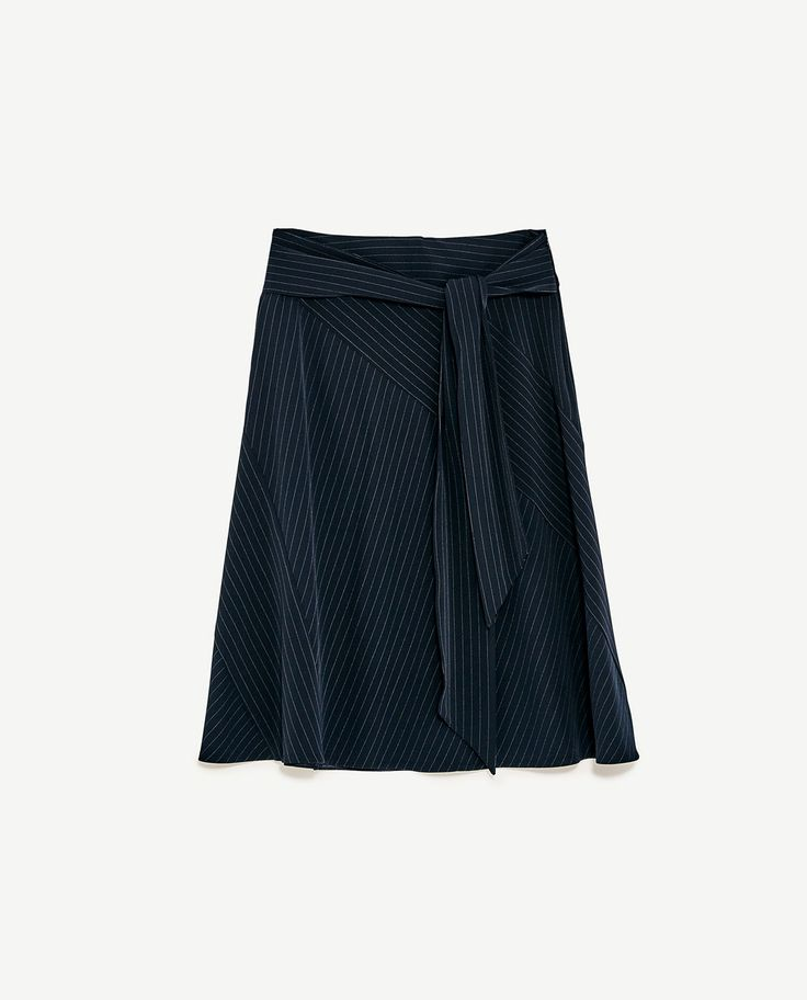Image 8 of PINSTRIPE SKIRT WITH BELT from Zara
