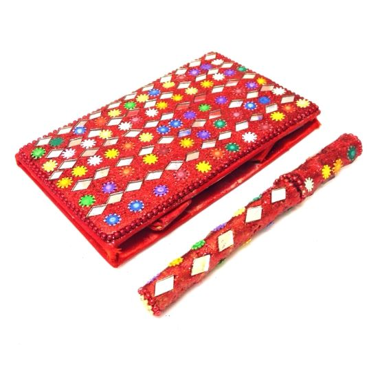 Red Embellished Notebook & Pen Set-£4.50 #prettytwisted #embellished #notebook #pen http://prettytwistedonline.co.uk/product/red-notebook-pen/
