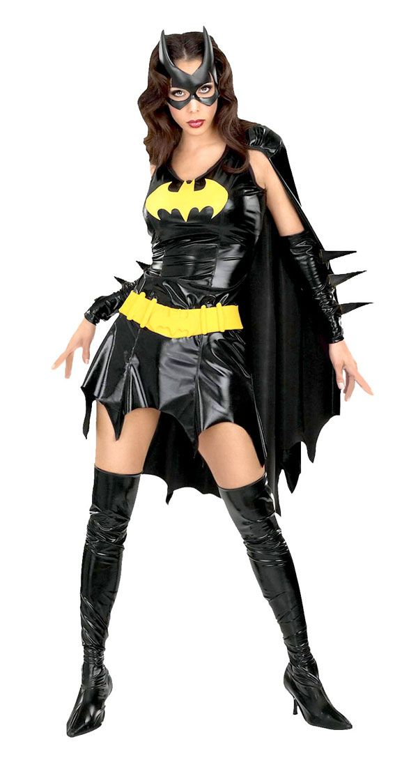 Batman Costumes for Women | Gloves are all black, not black and yellow.