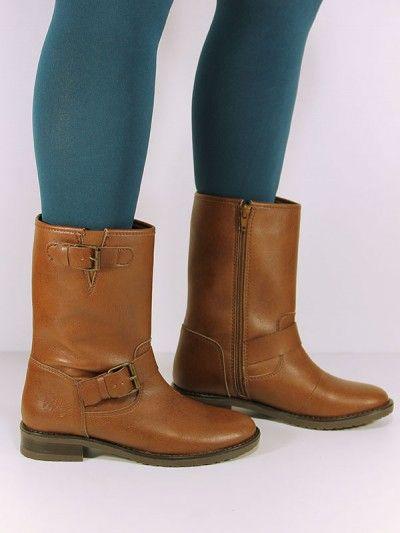 Vegan Vegetarian Non-Leather Womens Biker Boots Brown - 36, 95 euro, ook in lichter bruin