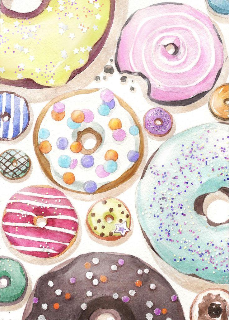 Посмотреть иллюстрацию Мария Леман - Пончики.