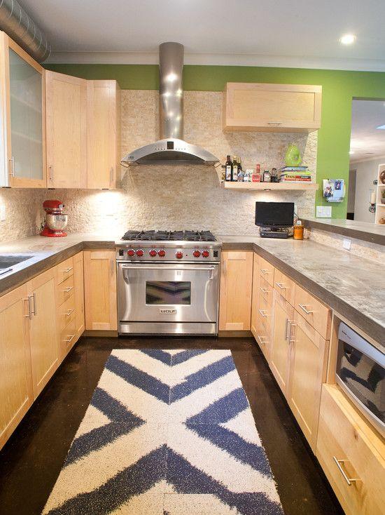 Küchenbereich Teppiche, Moderne Küchen, Moderne Küchen, Galeere Küchen, Kleine  Küchen, Helle Küchen, Träumen Küchen, Betonplatten, Innere