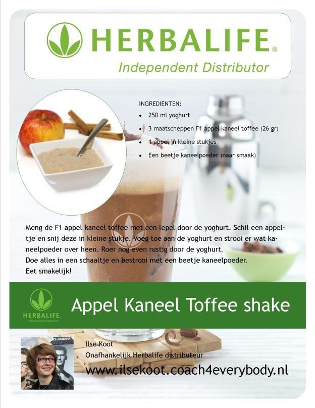 Herbalife recept appel kaneel toffee