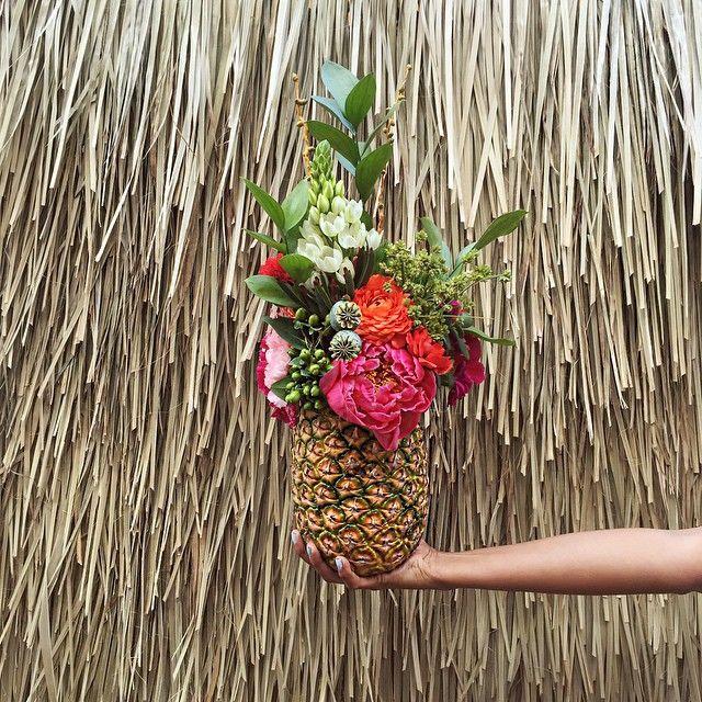Ta-da!.. Our pineapple floral arrangement for my sisters babyshower!  #DiY