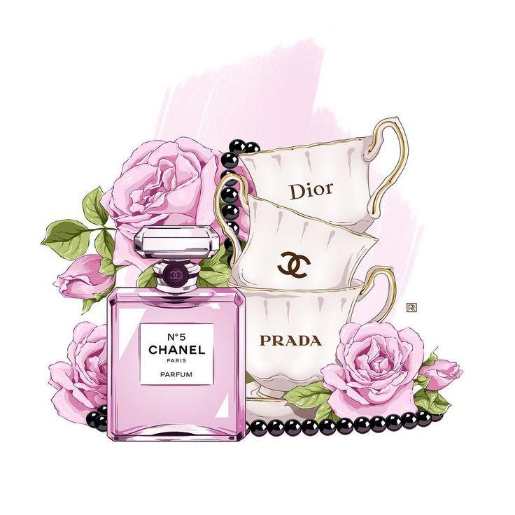 #illustration #fashionillustration #flowers #rose #roseflowers #parfum #chanel #chanel5 #cup #fashion #vogue #style #иллюстрация #моднаяиллюстрация #цветы #розы #чашки #духи #стиль #мода