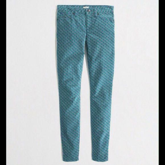 J. Crew Pants - J. Crew Patterned Toothpick Corduroy Cord Pants 24
