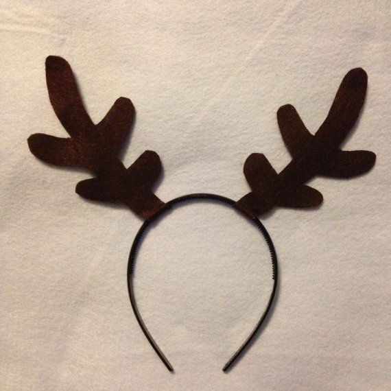 Antlers Deer Elk Reindeer Frozen Sven Headband Birthday Party Favors Costume Santa Christmas Pageant Sled Red Nose Rudolf Child Baby Adult