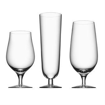 De Beer bierglazen maken onderdeel uit van de Beer serie, die bestaat uit verschillende bierglazen die de smaak van de bier naar boven brengt. Combineer met de andere stijlvolle glazen van Orrefors.