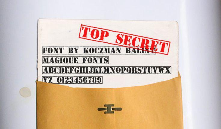 Top Secret Font   dafont.com