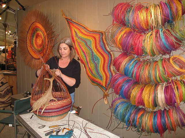 Montana Blue Heron Weaving | Montana Blue Heron's Marilyn Stevens weaving a basket | Flickr - Photo ...