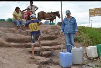 Escasez de agua 2 en Chaco.