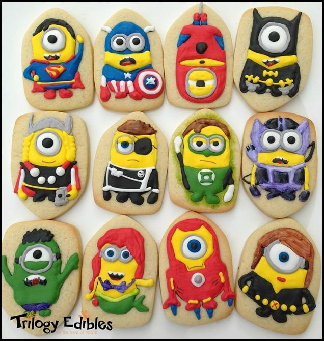 Minion Superhero Cookies made by Trilogy Edibles