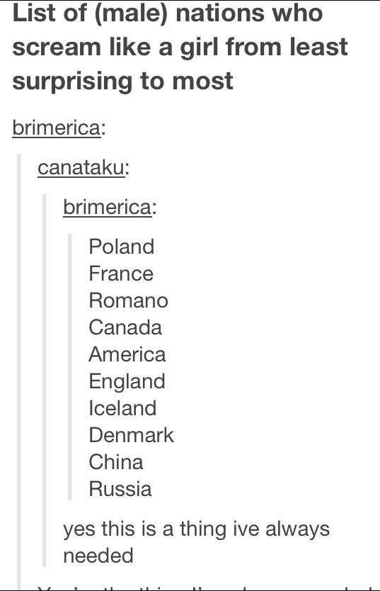 ((We needed this list so badly. I'm actually surprised that Italy isn't on this list.))