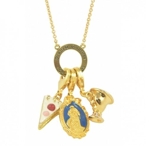 Disney Couture Beauty & the Beast Multi Charm Necklace at aquaruby.com