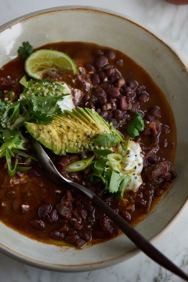 Vegan Black Bean Chili - Substitute 1 tsp chocolate extract for the Kahlua.