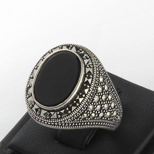 Dimensione uomo anello 925 argento 10 uomini anello di ATAjewels