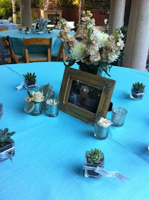 table set up for a classy 50th birthday party