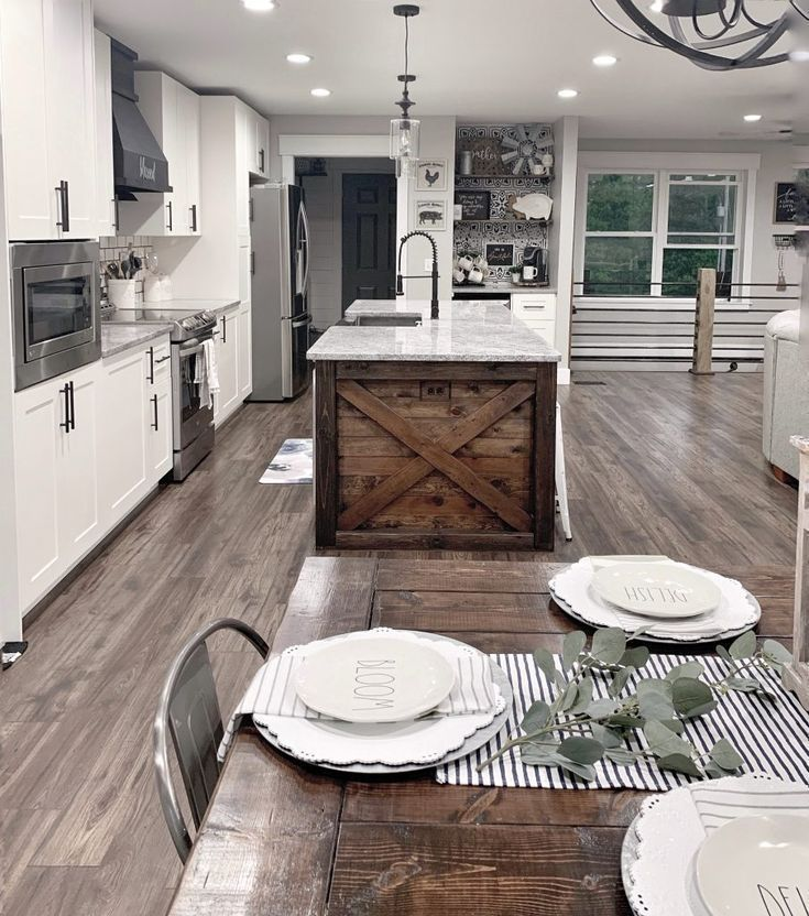20+ Cool Farmhouse Kitchens Design Ideas For Your Home in ...