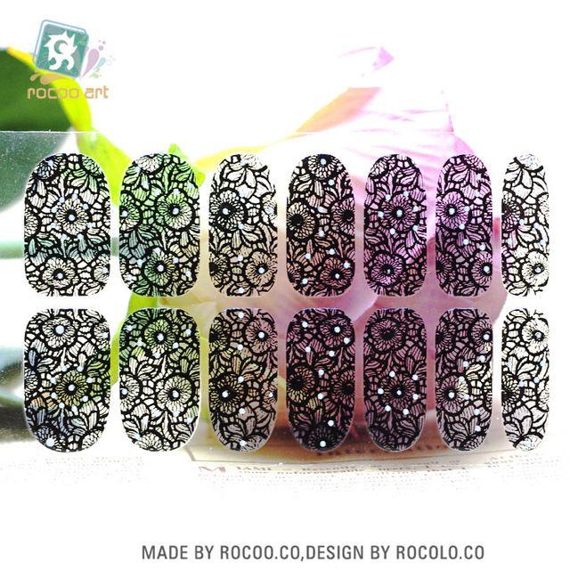 Y5413 Прозрачный Черный Чистая Кружева Стеклянный Шар Дизайн Клей Nail Art Наклейки Конфеты Цвет Rinestones Декор Ногтей Обертывания Наклейки купить на AliExpress