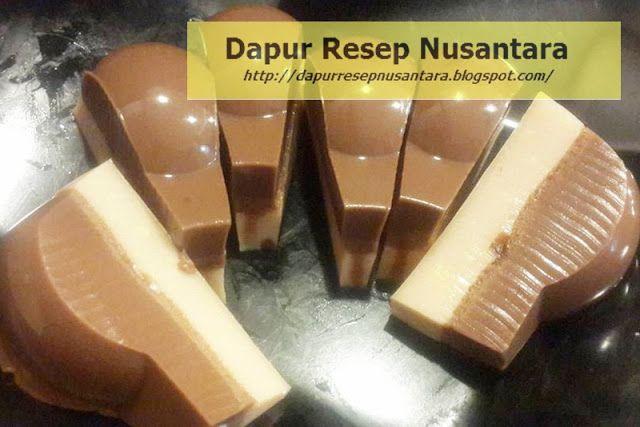 Resep Cara Membuat Puding Busa Coklat Enak