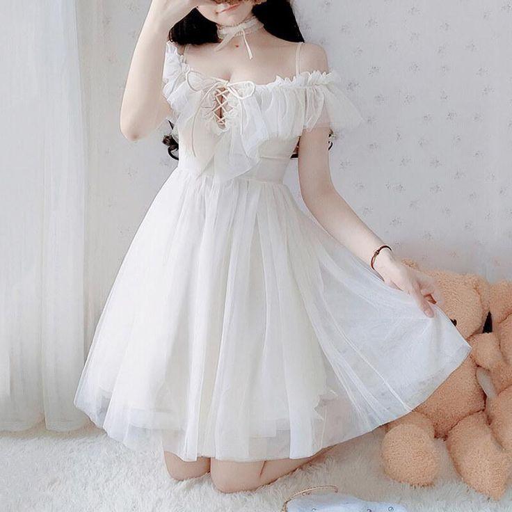 sweet japanese ruffle dress se20462 kawaii fashion outfits cute