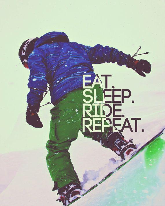 Snowboarder Poster Snowboarding Art by DareToDreamPrints on Etsy