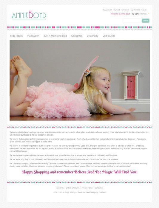 Annie Boyd - Herne Bay Gift Shop using Magento eCommerce  www.annieboyd.co.nz