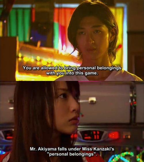 "Liar game Word! I want ""personal belongings"" that look like that!"