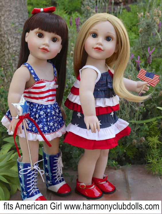 Great for an American Doll Parade www.harmonyclubdolls.com