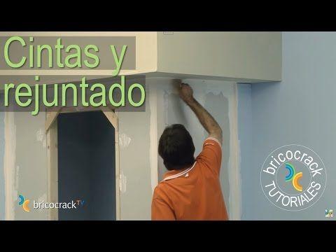 Construir tabiques de yeso laminado (Pladur) 3: juntas (Bricocrack) - YouTube