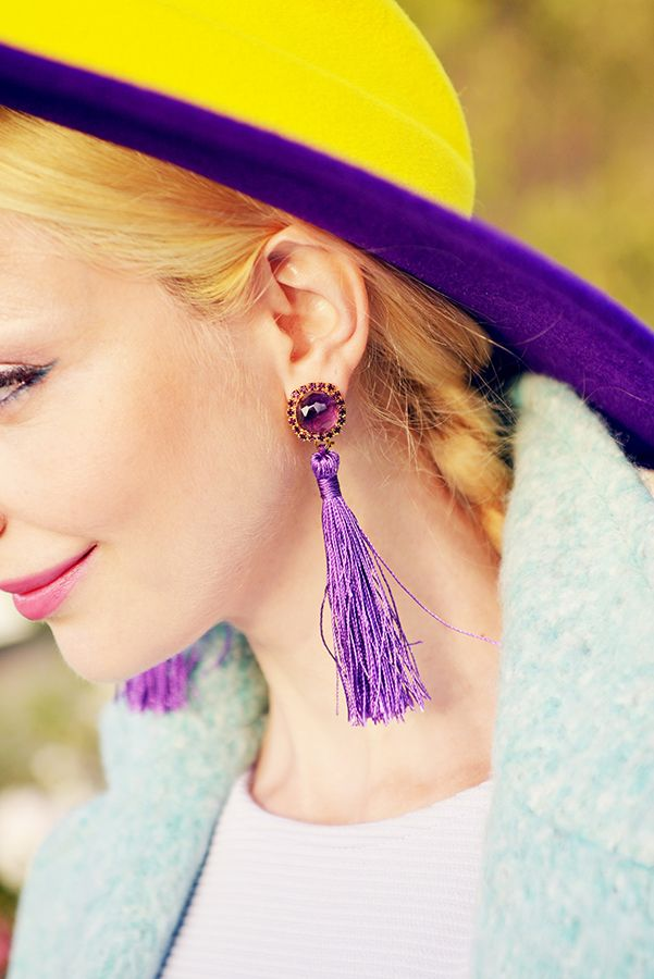 Tassel earrings #tassel #jewelry #fashion #style