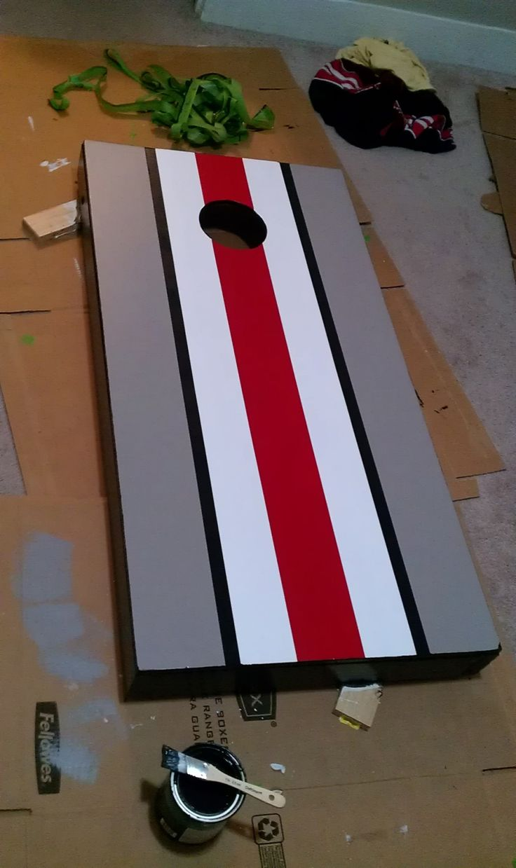 Cornhole Design Ideas corn hole board idea Diy Paint Your Cornhole Boards